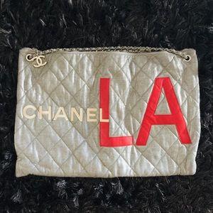 CHANEL Logo Tote Bag